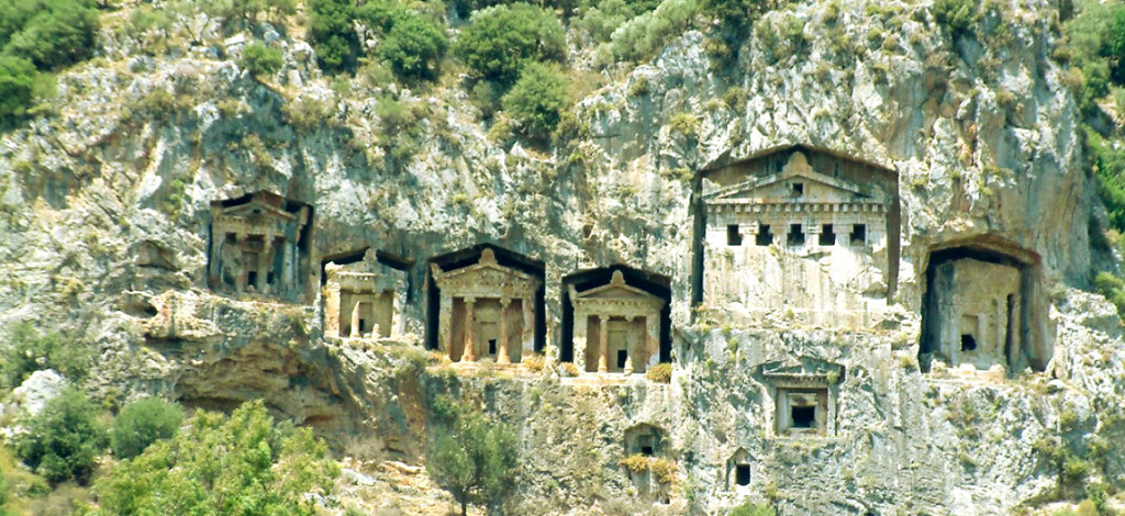 Lycian-way-Turkey-rock-tombs-Fethiye