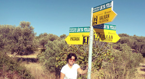 The lycian Way signpost