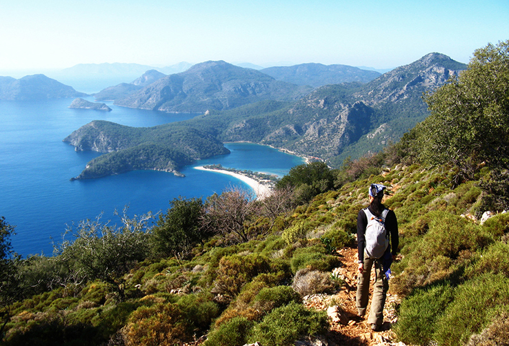 Hiker on The lycian Way