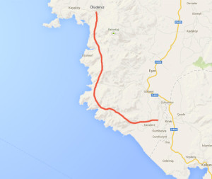 Lycian Way map