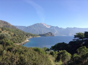 lycian Way sea mountain view