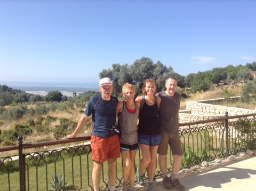 Lycian Way group hikers