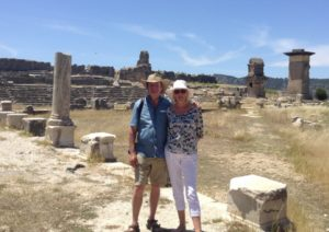 Lycian Way hikers Xanthos
