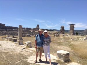 Hikers at Xanthos Turkey