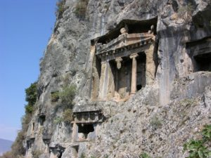 Lycian rock tombs Turkey