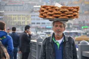 Simit seller Istanbul Turkey