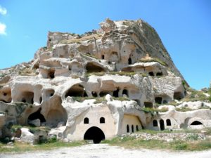 Rock dwellings Cappadocia Turkey
