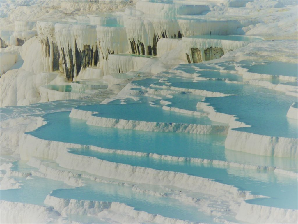 lime sinter terrace Pamukkale Turkey