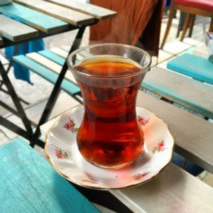 glass of tea Istanbul Turkey