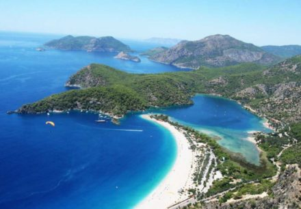 Lycian way group view of Oludeniz