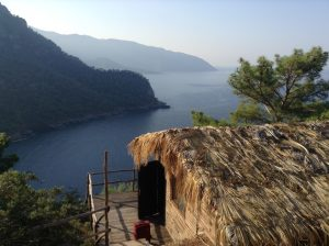 Lycian Way group view from Kabak