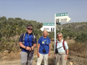 hikers on the Lycian Way